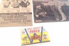 Wrangler Western Wear Vintage Ads Circa 1960's