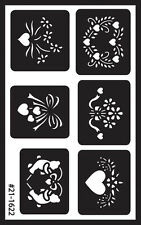 """Armour Over 'N' Over Reusable Stencils 5""""X8""""-Assorted"""