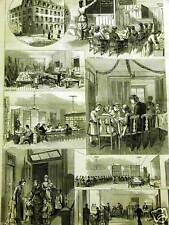 BOSTON NORTH END INDUSTRIAL HOME 1881 CHILD Print Matted