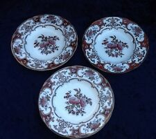 "Antique 19C Wedgwood 9"" Bowls, Camelia 2094 Pattern-Set Of 3"