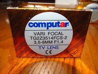 "NEW IN BOX COMPUTAR TG2Z3514FCS-2  1/3"" Autoiris 3.5-8MM  VARIFOCAL LENS"