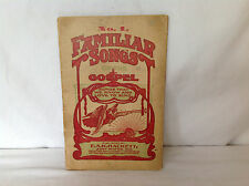 No.1 Familiar Songs of the Gospel - Softcover Songbook Booklet 1905
