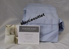 CHARTER CLUB 500 Thread Count Damask Solid KING EXTRA DEEP Sheet Set Sky