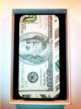 cover rigida iPhone 5 5s  slim raffigurante il dollaro  ultra compatta grey