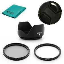 LENS HOOD UV CPL Filter, CAP for Sigma 50-200mm F4-5.6 DC OS, AF 55-200mm F4-5.6
