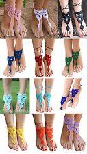 Barefoot Crochet Sandals Anklet Bohemian Boho Beach Hippie Wedding Bridal
