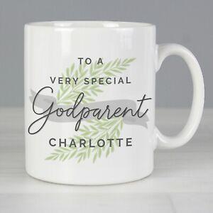 Personalised Godmother Godfather Cup Mug Gift Christening Baptism Godparent