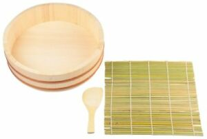 PEARL METAL Sushi Hangiri Rice Bowl Maker 3 piece set D-487 from Japan