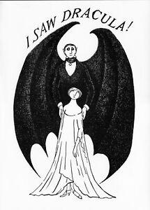 Edward Gorey poster I SAW DRACULA macabre art goth wall art 1979 print