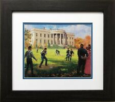 "Mort Kunstler ""The National Game"" New CUSTOM FRAMED Art Baseball Colonial USA"