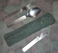 "GERMAN ARMY WW2 BAG FOR EATING SET ""ESSBESTECK BEUTEL"" AFRIKA KORPS, GOOD REPRO"