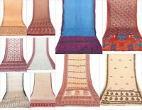 Lot Of 25 Vintage Indian Saree Mix Fabric Craft Used Art Multi color Sari