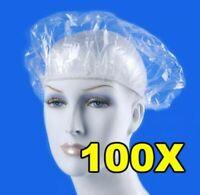 100 Gorros de plastico desechables con elastico cabeza proteccion ducha baño goo
