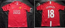 Scholes #18 MANCHESTER UNITED shirt NIKE 2007-09 NEW TAGS SIZE XL.Boys/XS adults