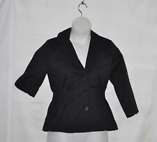 Joan Rivers Signature Jacket with 3/4 Tab Sleeves Size S Black