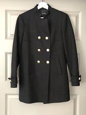 Zara Women's Black Military style Blazer Coat cotton and wool blend Small S