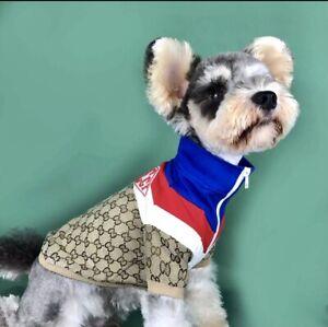 Luxury Fashionable Designer Dog Jacket Shirt Popular Monogram S SIZE
