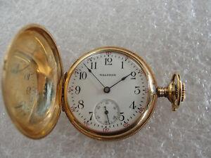 Waltham 14K Yellow Gold Small Pocket Watch Year 1909