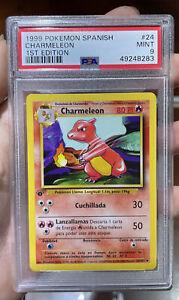 Charmeleon 1st Edition Spanish Base Set Mint 9 PSA Pokemon #24