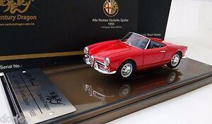 1:43 Alfa Romeo Giulietta Spider 1955 Century Dragon High-end Resin Model Red