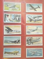 1936 International Airliners plane aircraft Complete Players Tobacco Card Set 50