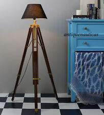 Handmade Vintage CLASSIC Tripod FLOOR Shade LAMP CORNER HOME DECOR LAMP STAND