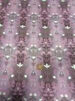 London Cats 100% Cotton fabric Quilting Craft Benartex Pink Raspberry