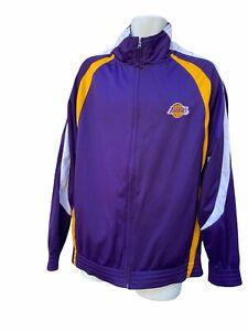 NBA Los Angeles Lakers Violet Or Grand Piste Veste Fermeture Éclair Vintage