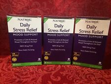 Lot 3  Natrol Daily Stress Relief Time Release 30Tablets X 3 New EXP 11/20