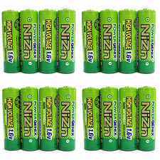 16 x 2500mWh 1.6V Volt AA 2A NiZn Rechargeable Battery Cell PowerGenix US Stock