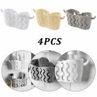 4xPlastic Kitchen Sponge Sink Tidy Holder Strainer Organizer Storage Basket Rack