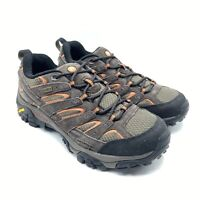 Merrell Moab 2 Mens 8.5 Low Top Hiking Shoes Waterproof Espresso Brown J06027