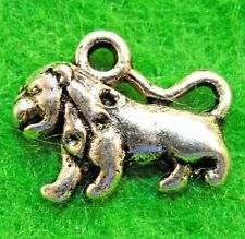 50Pcs. WHOLESALE Tibetan Silver LION Tiger Charms Pendants Earring Drops Q1159