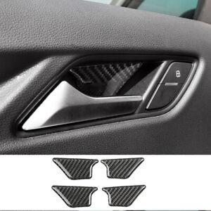 For Audi Q3 2015-2018 4pcs Real Carbon Fiber Inner Door Handle Bowl Cover Trim