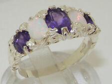 Anniversary Natural Oval Fine Gemstone Rings