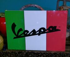 VESPA 12 X 18 metal sign  vintage advertising 50022 red green white scooter
