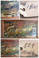 "1968 Sirena Mastrocristino (1929 - 2006) #529 ""Mediterraneo"" Signed Oil Painting"