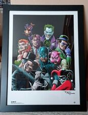 More details for batman/joker - signed by brian bolland- giclee print  -24