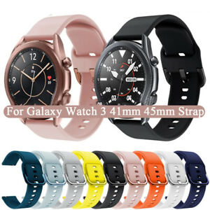 Silicone Watch Strap Band For Samsung Galaxy Watch 46mm 45mm 42mm Gear S3 Active