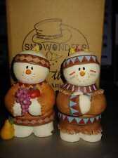 Sarah's Attic Thanksgiving Indians Chief Cheyenne Vintage Figurines Snowonders