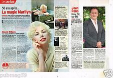 Coupure de presse Clipping 2012 (1 page 1/3 ) Marilyn Monroe Michelle Williams