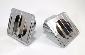 Chrome Inside Dash Defroster Duct Vents For 67-72 Chevy GMC Truck