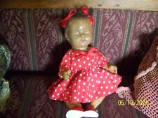 Vintage African American Composition Girl Baby doll