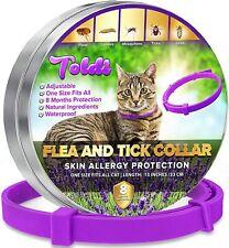 CAT FLEA & TICK COLLAR, 8 MONTHS PROTECTION, WATERPROOF, ALLERGY FREE, PURPLE