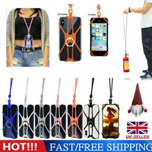 Universal Mobile Phone Silicone Lanyard Case Cover Holder Neck Strap Belt UK