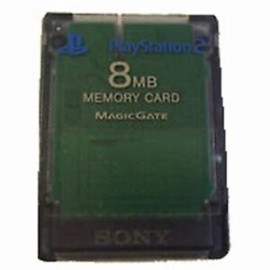 Authentic Sony PlayStation 2 (PS2) Memory Card (8MB) (Clear)