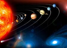 Solar System planets sun wall art POSTER print home decor A6 A5 A4 school