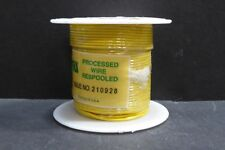 AWM 1007/1569 80/105C 300V Roll Wire 22AWG Solid TC YELLOW 100 Feet NOS