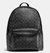 New Coach Men's Charles Backpack In Signature Charcoal Black F55398 MFRP $495