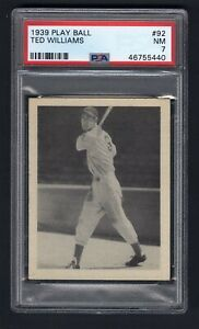 1939 Play Ball #92 Ted Williams PSA 7